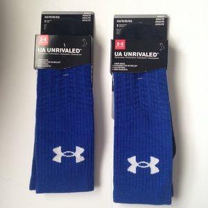UA Under Armour Blue Unrivaled Socks Adult XL